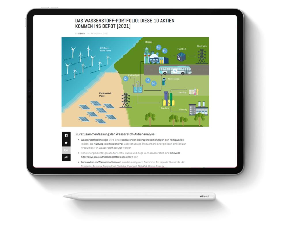 Hochwertige-Infografiken-erstellen-lassen-Tablet